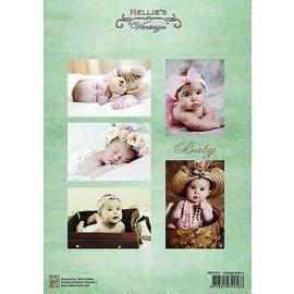 Nellie Snellen Bilderbogen A4, Babies Vintage