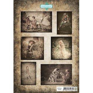 Nellie Snellen Bilderbogen A4, Vintage Børn