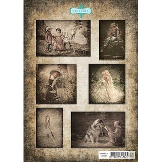 Nellie Snellen Bilderbogen A4, Vintage Children