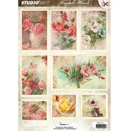 Vintage, Nostalgia und Shabby Shic Gestantzte A4 3D sheet - Romantic Picture
