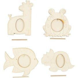 Objekten zum Dekorieren / objects for decorating 4 quadros, tamanho 10x15 cm