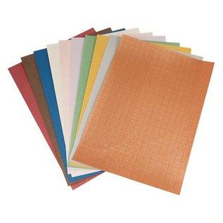 DESIGNER BLÖCKE / DESIGNER PAPER Gemustertes A4 Papierset, 10 Blatt Sortiment