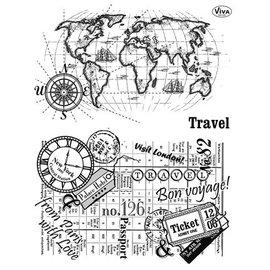 My paperworld (Viva Decor) Transparant stempel, Travel