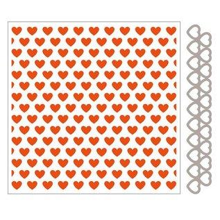 Marianne Design Embossingfolder + stempel skabelon hjerte