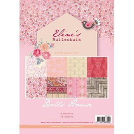 Karten und Scrapbooking Papier, Papier blöcke Pretty Papers - A4 - Eline's Doll House