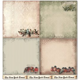 "Designer Papier Scrapbooking: 30,5 x 30,5 cm Papier Designpapier ""Background"" 4"