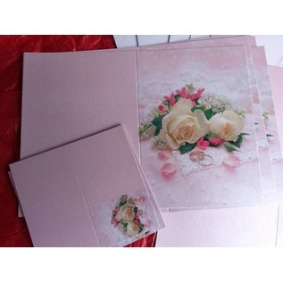 BASTELSETS / CRAFT KITS Edeles of cards to festive occasions, wedding rings with white roses
