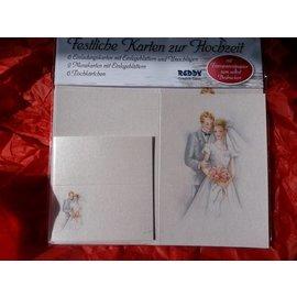 BASTELSETS / CRAFT KITS Edeles de cartões para ocasiões festivas, casamento branco-azul