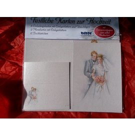 BASTELSETS / CRAFT KITS Edeles of cards to festive occasions, Wedding white-blue