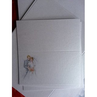 BASTELSETS / CRAFT KITS Edeles di carte per occasioni festive, Wedding bianco-blu