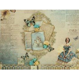"Designer Papier Scrapbooking: 30,5 x 30,5 cm Papier Design papir ""vintage"" 01"