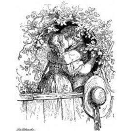 LaBlanche Stamp: Beijo dos amantes - estoque para trás, pegá-los!