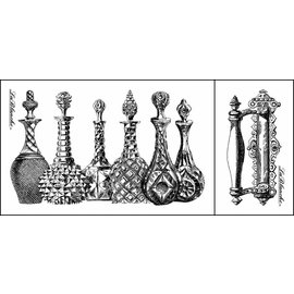 LaBlanche Lablanche carimbo: decantadores de vidro, frascos de perfume (2 selos)
