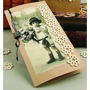 KARTEN und Zubehör / Cards SET: kort og konvolutter, kort størrelse 7,5x10,5 cm, natur