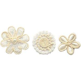 Embellishments / Verzierungen Gestickte Blumen in exklusivem Look