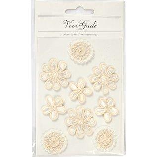 Embellishments / Verzierungen Fleurs brodées dans un look exclusif