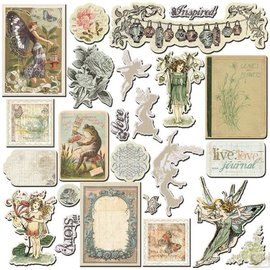 Prima Marketing und Petaloo Prima Marketing, chip boards, Nature Garden, 24 parts