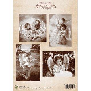 Nellie Snellen Decoupage A4 ark, Angel Praying