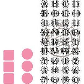Marianne Design Couper et gaufrer pochoirs Marianne Design + timbre 32 lettres