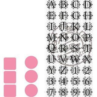 Marianne Design 2 Stanz- und Prägeschablonen, Marianne Design + Stempel 32 Buchstaben