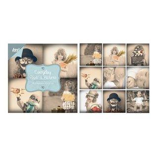 Joy!Crafts / Hobby Solutions Dies bloc de papier, 10x10cm - au quotidien - Papier & Photos