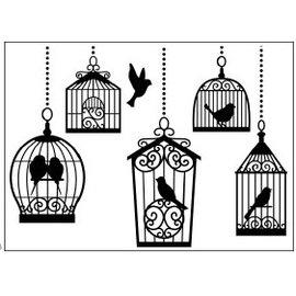 DARICE Dossiers gaufrage, cages à oiseaux 10,8x14,6cm