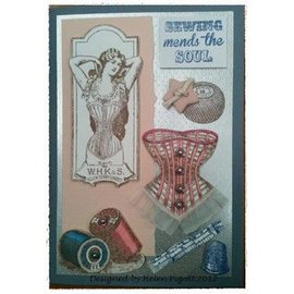 IndigoBlu Stempel A5: Sewing mends the soul, 200x140mm