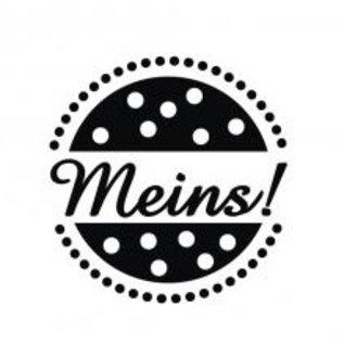 "Stempel / Stamp: Holz / Wood Wooden mini stempel med tyske ord ""mine"", 2cm ø"