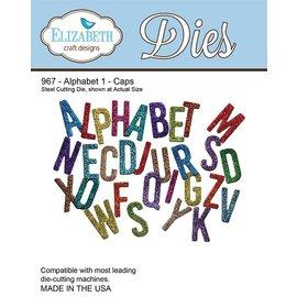 Elisabeth Craft Dies Estampagem e gravação stencil, Elizabeth Craft Design Alfabeto 1-967 Hat