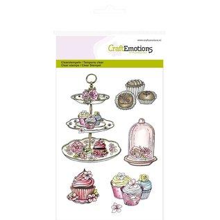 "Stempel / Stamp: Transparent Craft Emotions Transparent stamps A6, delicacy ""High Tea Rose"" - Copy"