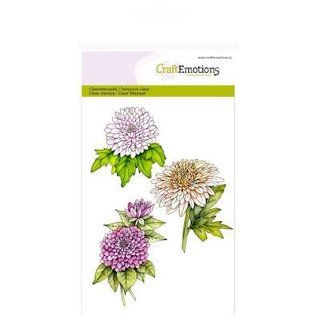 Stempel / Stamp: Transparent CraftEmotions Transparent stempel A6, Chrysanthemen Zweig Botanical Summer
