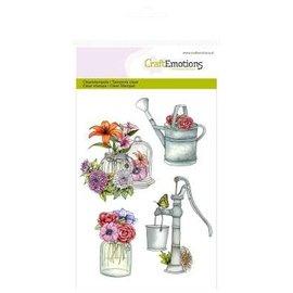 Crealies und CraftEmotions Craft Emotions Transparent stamps A6, watering pump Botanical Summer