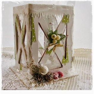 Objekten zum Dekorieren / objects for decorating Let's get Bizzee, Laterne MDF 150 x 100 mm