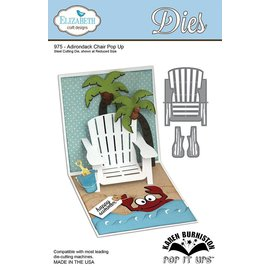 Elisabeth Craft Dies Elizabeth Craft Design, punching and embossing template, chair Pop Up Card