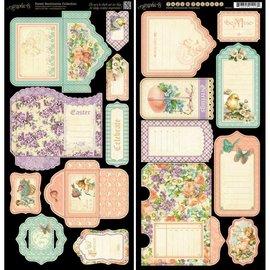 GRAPHIC 45 Cartolina sentimentos doces, 2 folhas