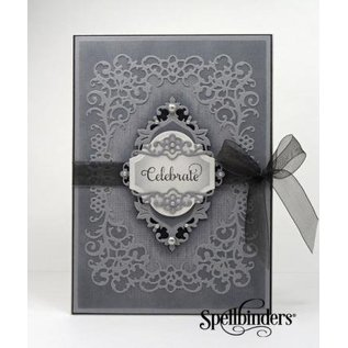 Spellbinders und Rayher Spellbinders Nestabilities Labels, punch template doilies, decorative frames and corner
