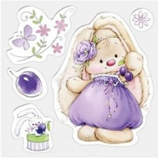 Stempel / Stamp: Transparent Transparent Stempel, 105 x 105 mm, Bunny And Plums