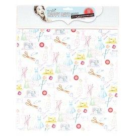 Textil Stoff auf Papier, selbstklebend