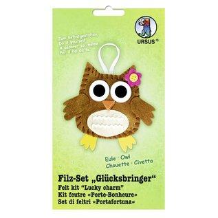 """Kinder Bastelsets / Kids Craft Kits Filt Craft Kit """"heldig charme"""" ugle"""