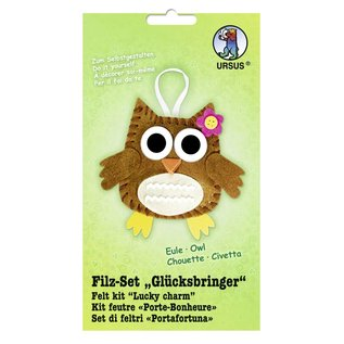 "Kinder Bastelsets / Kids Craft Kits Voelde Craft Kit ""geluksbrenger"" uil"