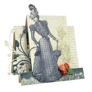 Designer Papier Scrapbooking: 30,5 x 30,5 cm Papier Kreativ SET No.1: Couture Collection + 1 + 1 baggrundskort tip Dekoband!