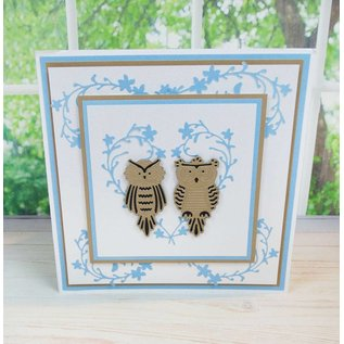 Tattered Lace Bigz Die, 3 filigräne cute baby owls