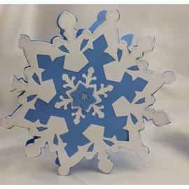 Sizzix De perfuração - e gravação stencil SET, Sizzix Framelits, flocos de neve