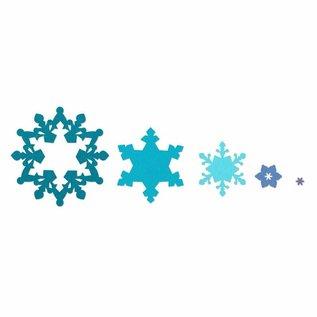 Sizzix Stanz - und Prägeschablone SET, Sizzix Framelits, Snowflakes