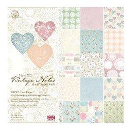 Karten und Scrapbooking Papier, Papier blöcke Vintage Paper Block Notes, 15.2 x 15.2 cm