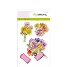 Crealies und CraftEmotions Clear stempels, rozen High Tea Rose, 4 ontwerpen