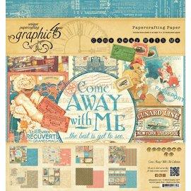 """GRAPHIC 45 Designere blok 20 x 20 cm, fra Graphic 45 """"Kom med mig"""""""