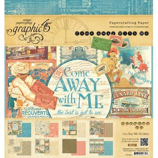 "GRAPHIC 45 Designers Block 20 x 20 cm, du Graphique 45 ""Come Away With Me"""