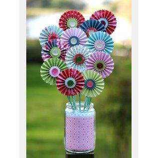 "Embellishments / Verzierungen Pinwheels of designer paper ""Sew Lovely"""