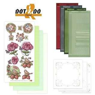 Sticker Sticker Bastelset: Dot & Do, Blumen